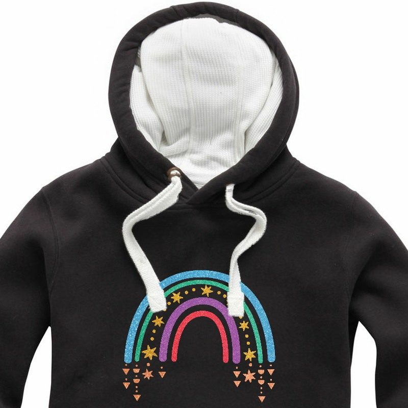 Glitter Raining Star Rainbow