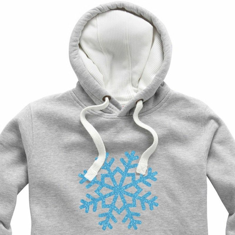 Glitter Light Blue Snowflake